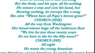 david bowie young americans lyrics