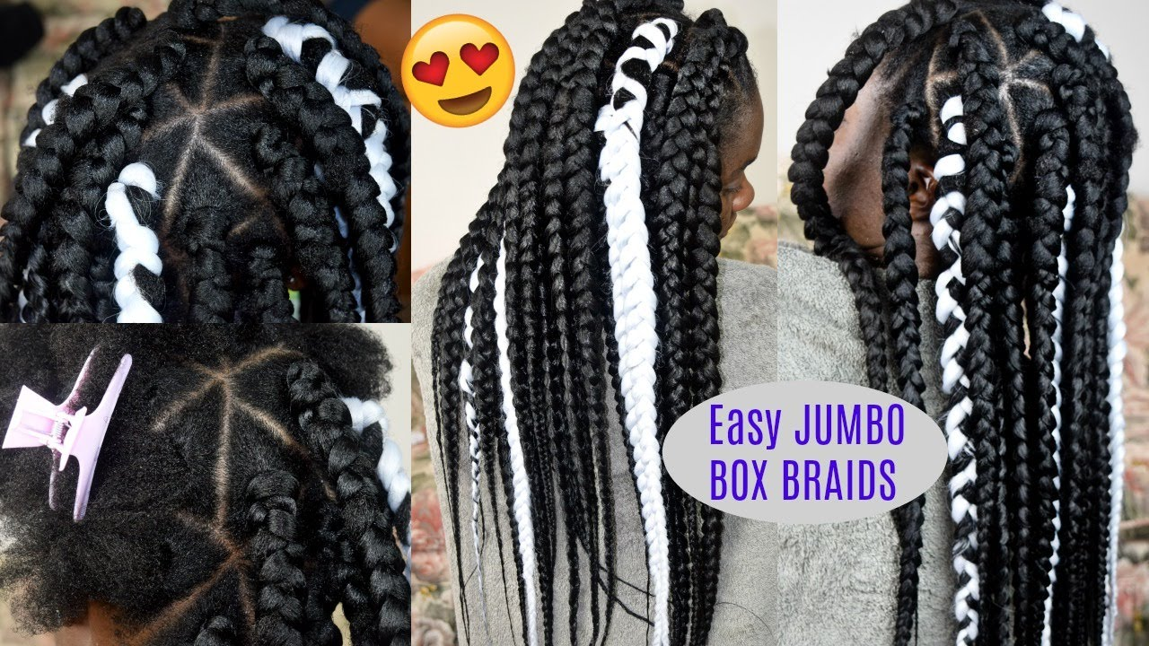 No Grip How To Jumbo Box Braids W Triangle Parts