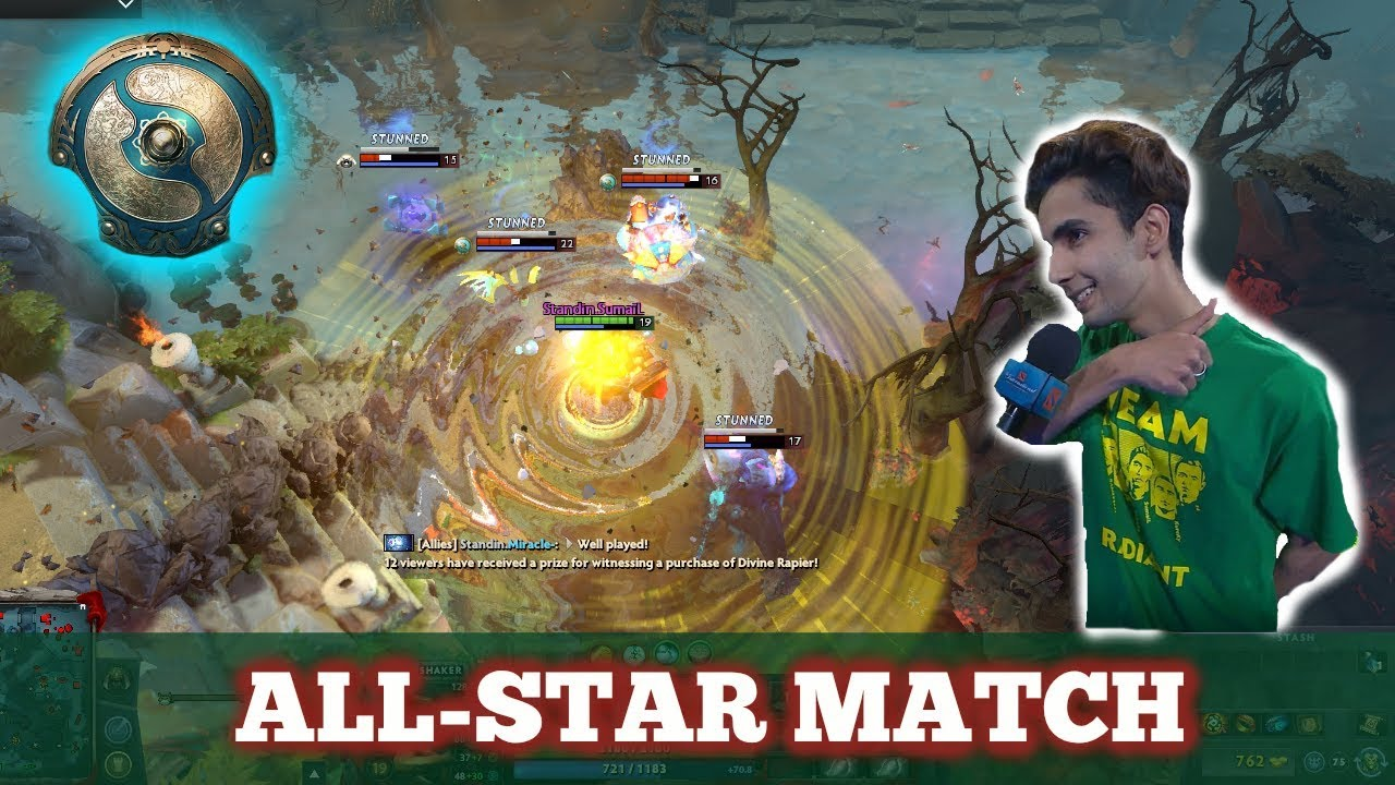 TI7 ALL-STAR MATCH!! (w/ Player Voices and Reactions) | The International 2017 Dota 2