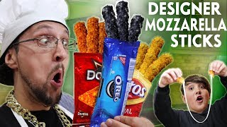 OREO MOZZARELLA STICKS!!  Designer DIY Gourmet Food!