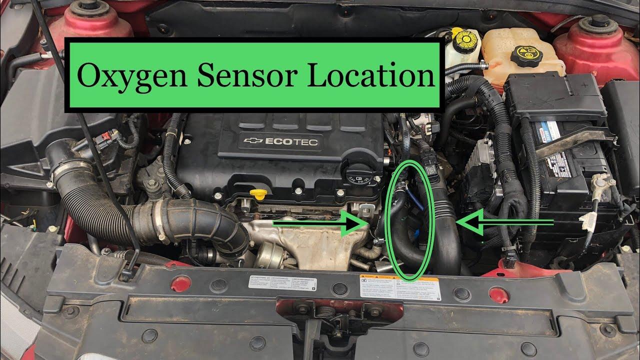 2013 chevrolet cruze and sonic oxygen sensor location aka o2 sensor chevy cruze engine sensor locations on chevy cruze eco engine diagram [ 1280 x 720 Pixel ]
