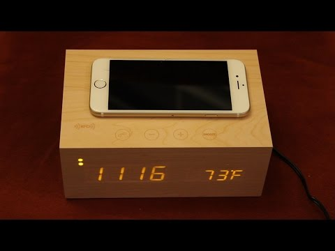 Alarm Clock With Bluetooth Speakers NFC & Qi Wireless Charging Pad - Unboxing & Review