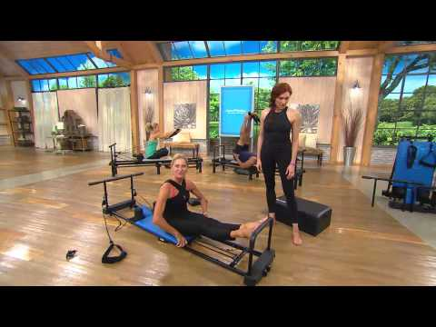 AeroPilates Reformer Plus 4 Cord w/DVDs Pull Up Bar and Rebounder with Albany Irvin