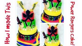 Making A Power Rangers Cake!