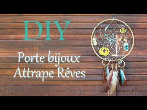 diy attrape r ves porte bijoux youtube. Black Bedroom Furniture Sets. Home Design Ideas