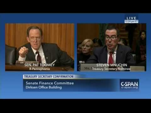 """Mnuchin """"We should Not Be in The Business Of Bailing Out The Big Banks"""""""
