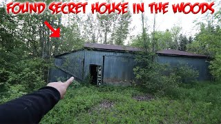 FOUND SECRET HIDDEN ABANDONED MYSTERY HOUSE IN THE WOODS!