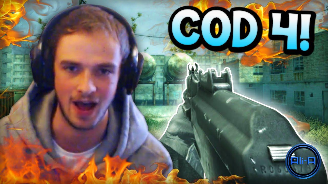 `OLD SCHOOL!` - Call of Duty: Modern Warfare - LIVE w/ Ali-A! (COD4)