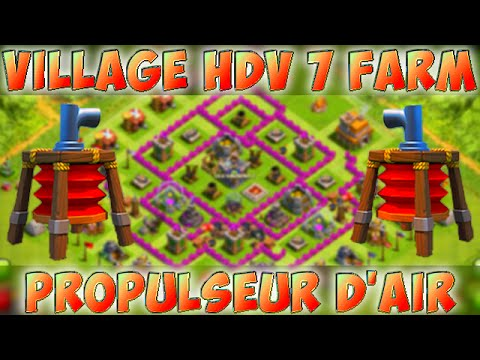 clash of clans new update hdv 7 propulseur d 39 air farming base best th7 air sweeper 2015. Black Bedroom Furniture Sets. Home Design Ideas