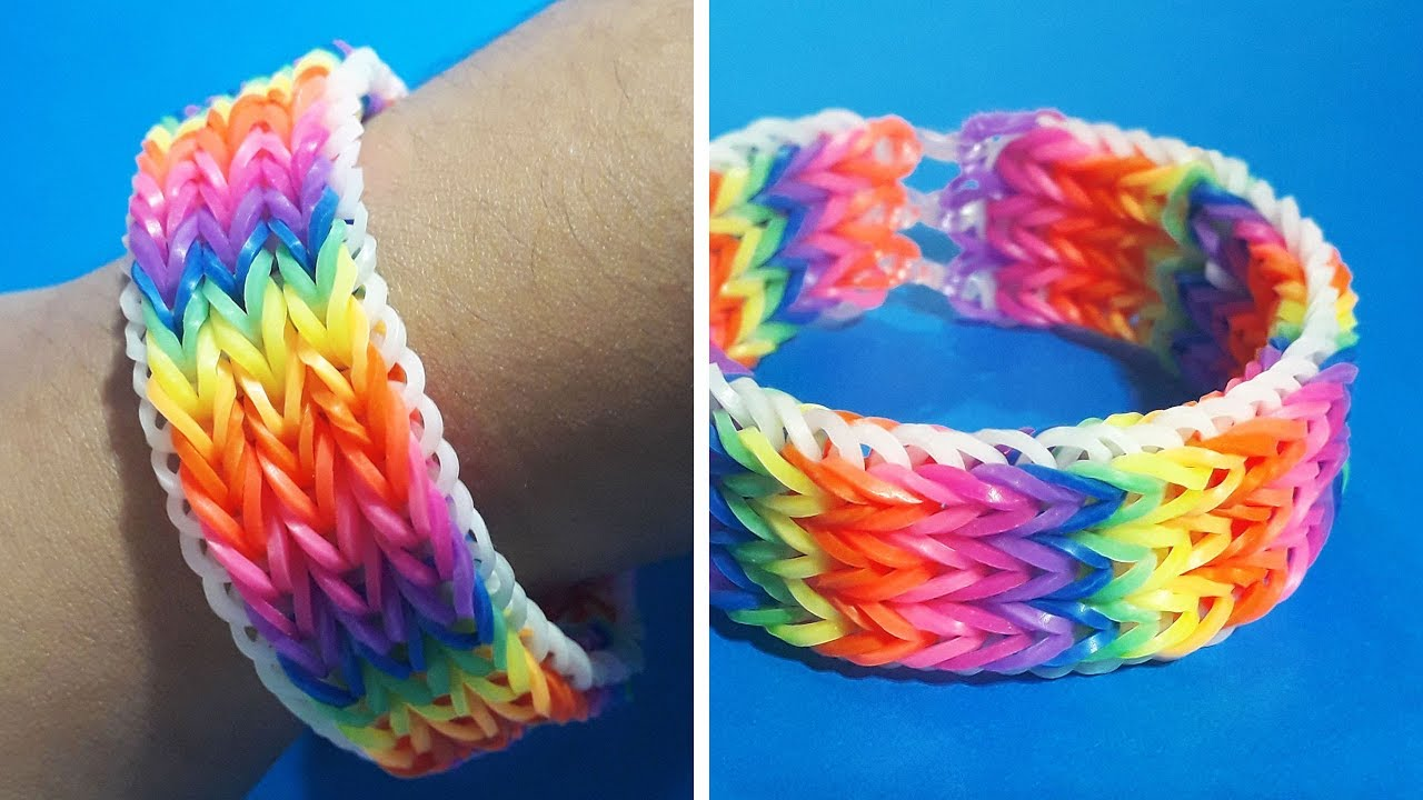 Rubber Band Bracelet How To Make A Colorful With Bands