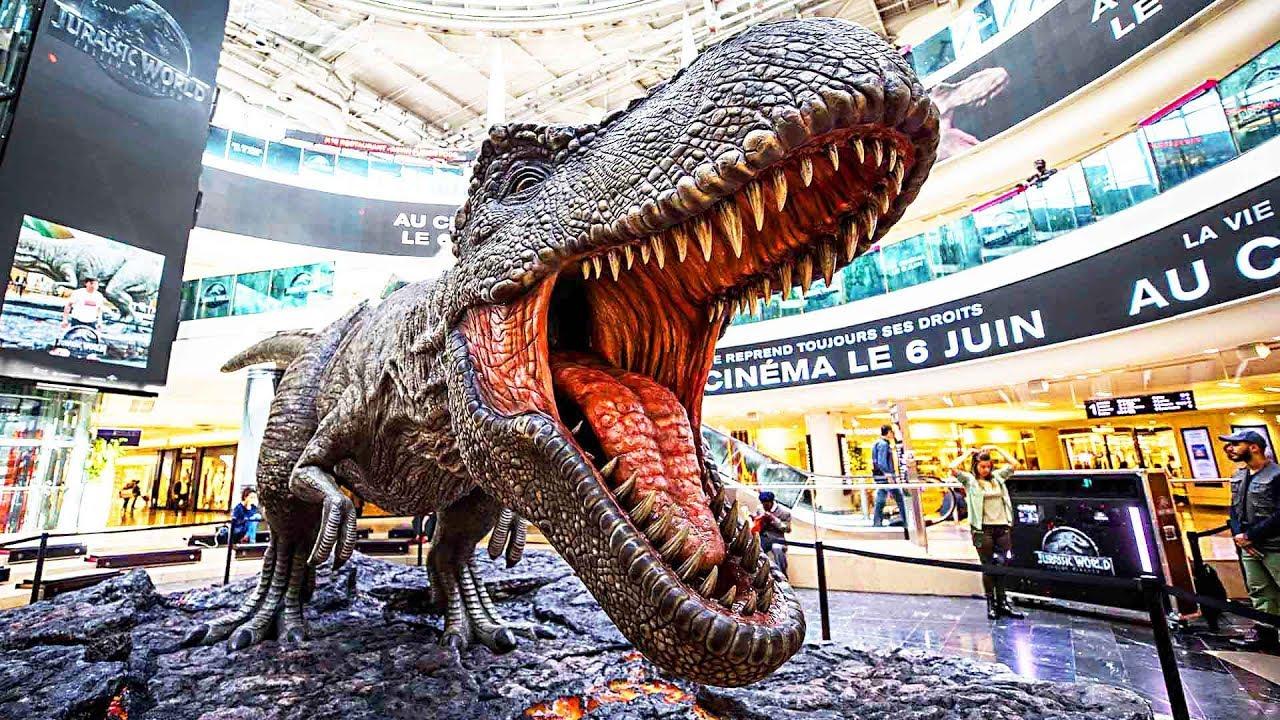 Un dinosaure paris jurassic world 2 2018 youtube - Dinosaure jurassic world ...