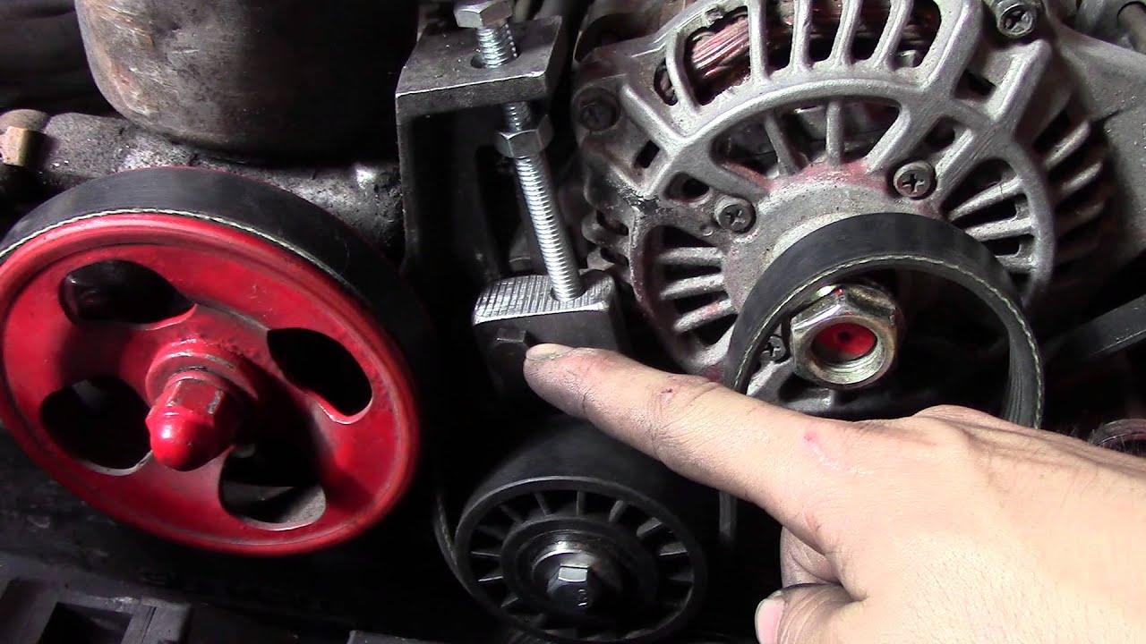 Subaru Alternator Tensioner Block With Dayco Idler Pulley More Belt Wrap