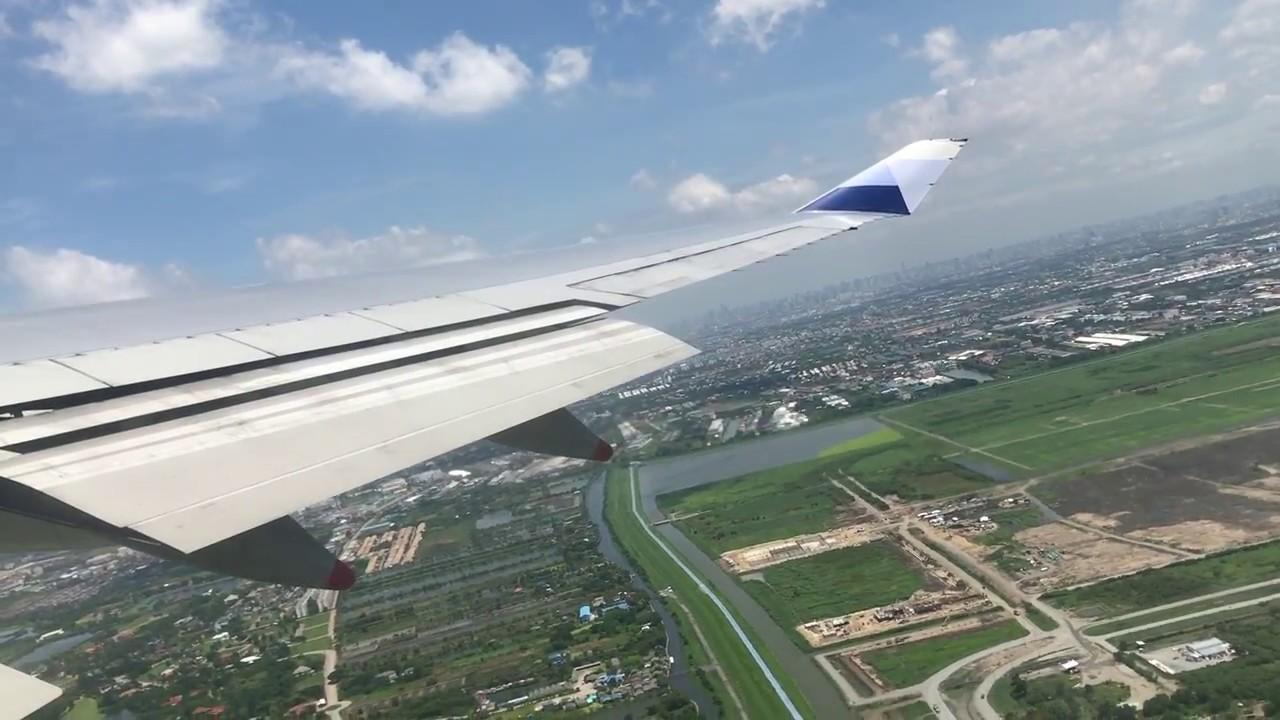 中華航空CI834 曼谷機場飛桃園機場 飛機起飛 右側窗外景 (遠眺曼谷) - YouTube