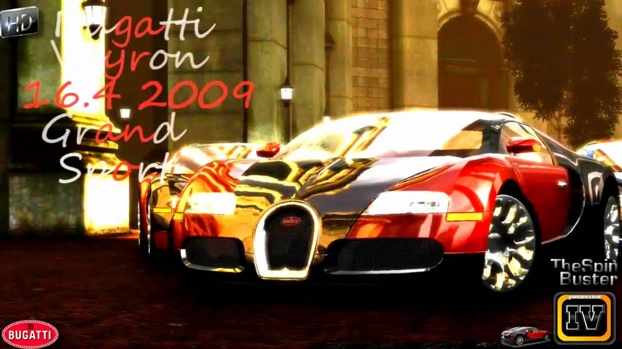 Gta 4 Bugatti Veyron 16 4 Grand Sport 2009 Youtube