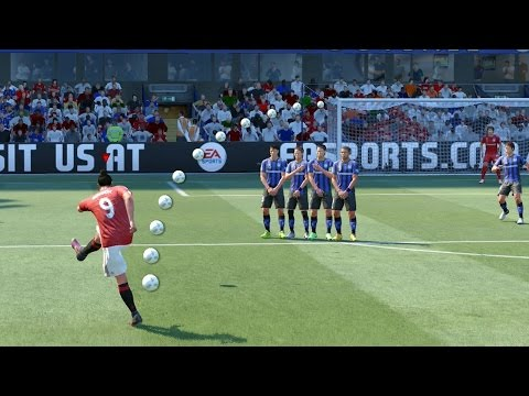 FIFA 18/17 ALL FREE KICKS TUTORIAL | TRIVELA, KNUCKLEBALL, DRIVEN, RABONA !
