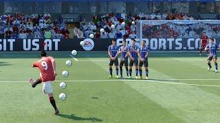 FIFA 17 ALL FREE KICKS TUTORIAL | TRIVELA, KNUCKLEBALL, DRIVEN, RABONA !
