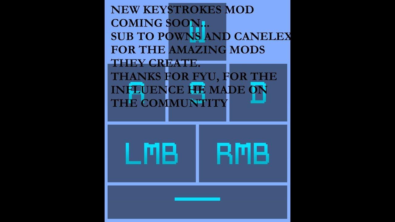 how to use the keystrokes mod