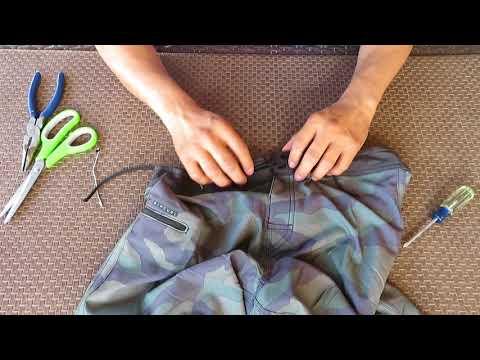 Add A Draw String To Your Swim Trunks