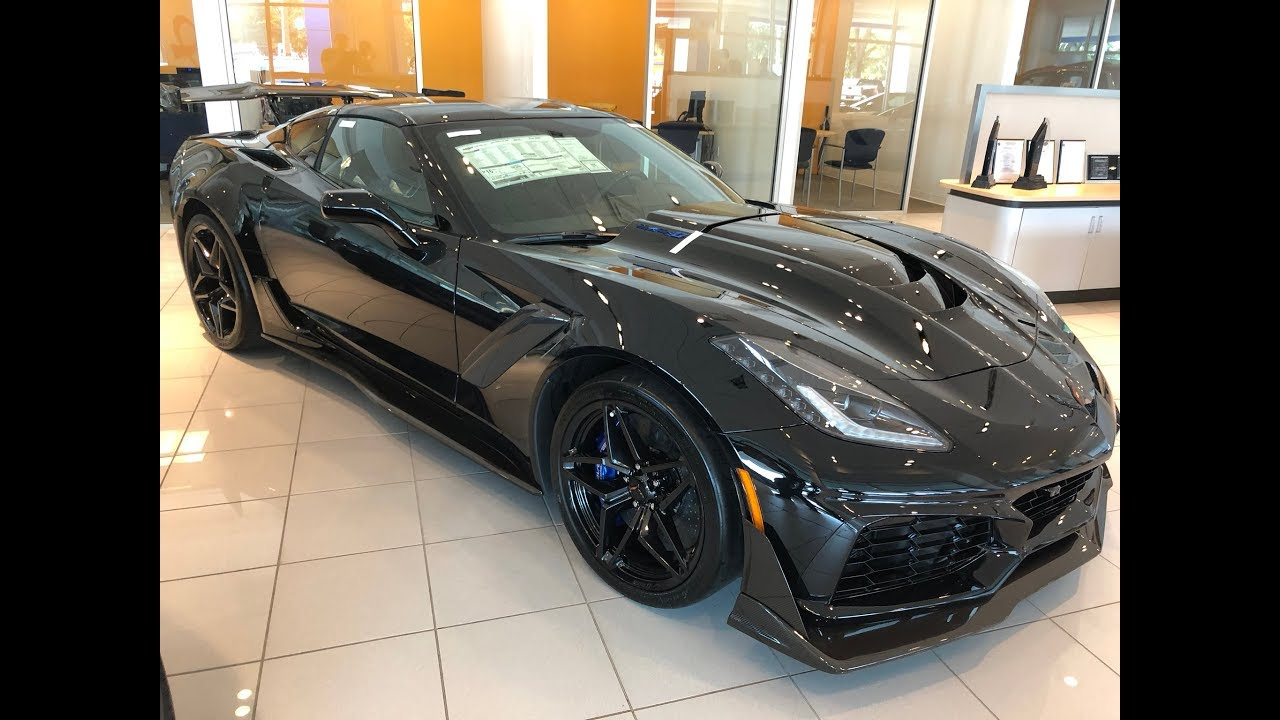 2019 Corvette Zr1 Murdered Out 4k Uhd All Black In Showroom