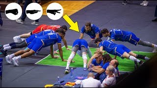Volleyball Team France Plays Rock Paper Scissors During the Match 😂 | VNL 2019 (HD)