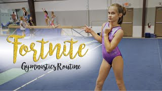 Fortnite In Real Life Gymnastics Floor Routine| Kyra SGG