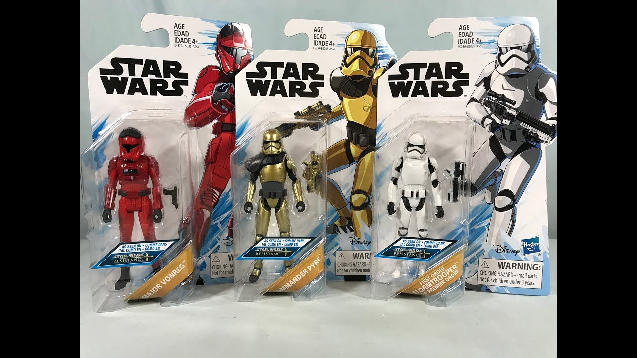"NEW Star Wars RESISTANCE 3.75/"" wave 1 FIRST ORDER STORMTROOPER READY TO SHIP"