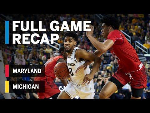 Full Game Recap: Maryland At Michigan | Big Ten Basketball