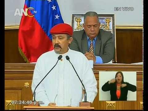 Oscar Alvarado, discurso ante la ANC por la Constituyente de la Identidad Cultural
