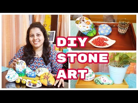 DIY STONE ART | DIY Painted Rock Art | DIY Stone Painting Using Acrylic Paint | Maitreyee's Passion