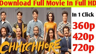 How to download chhichhore movie full HD in Hindi | chhichhore movie kaise download Kare Easily