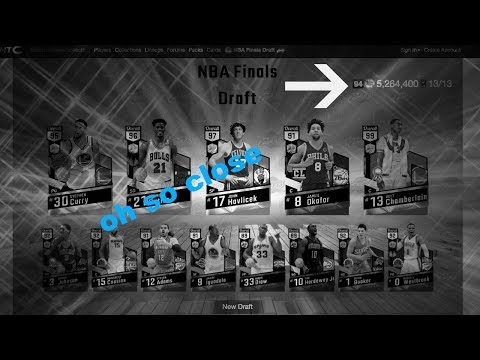 NBA finals draft oh so close to a 95 draft 2kmtcentral