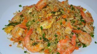 Быстрый Ужин! Как приготовить жареный рис. Fried rice recipe.