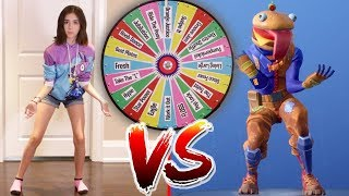 FORTNITE DANCE MYSTERY WHEEL CHALLENGE!! (In Real Life) thumbnail