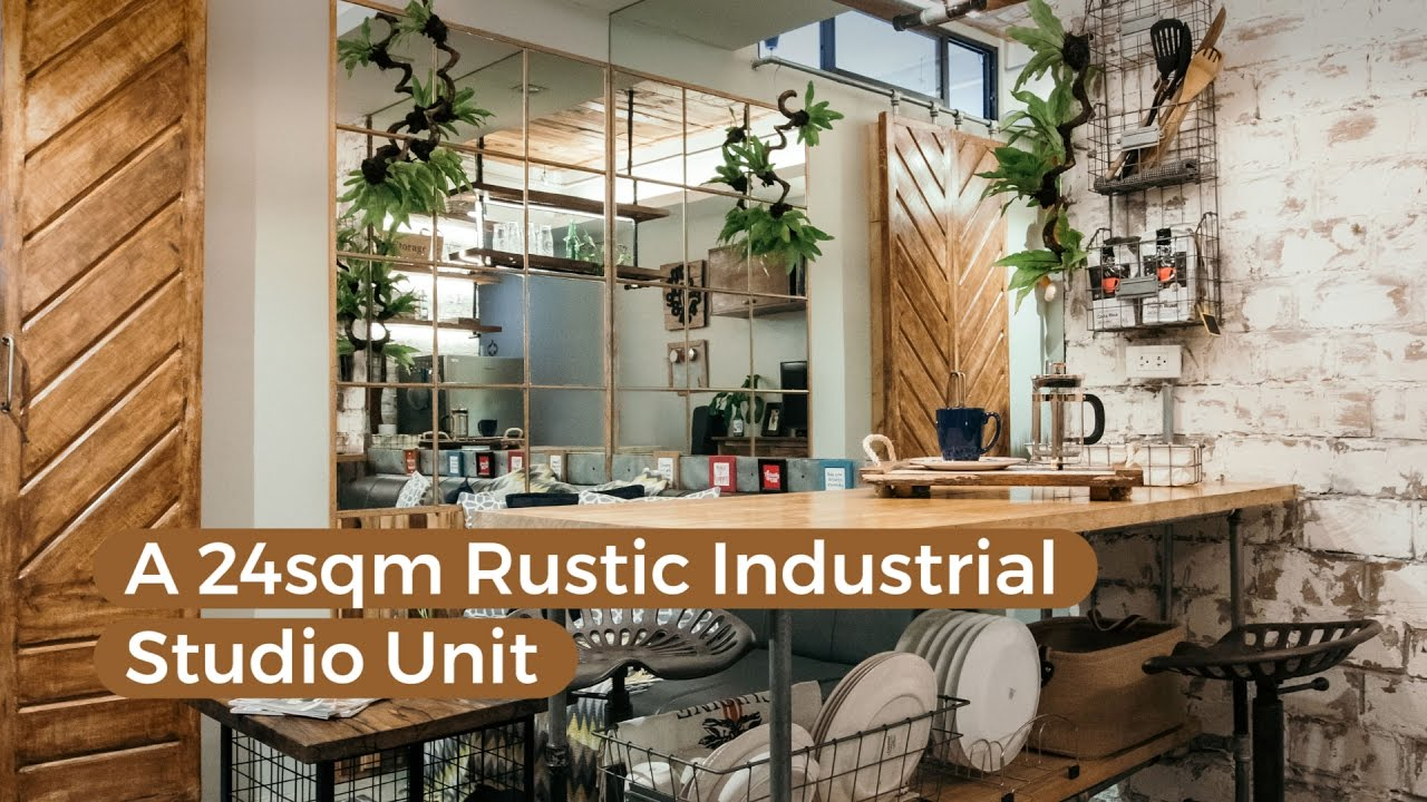 A 24sqm rustic industrial studio unit youtube for Industrial design studio