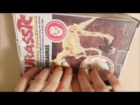 [ASMR] Excavating Dino Fossil Kit (No talking) Part 1