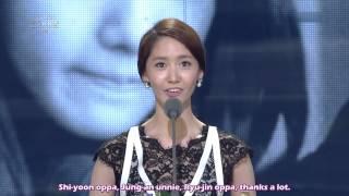 [ENG SUB] 131231 SNSD Yoona Drama Excellence Award @ Drama Awards 2013