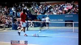 Stanislas Wawrinka Destroys His Racket  ( US OPEN 2013. )