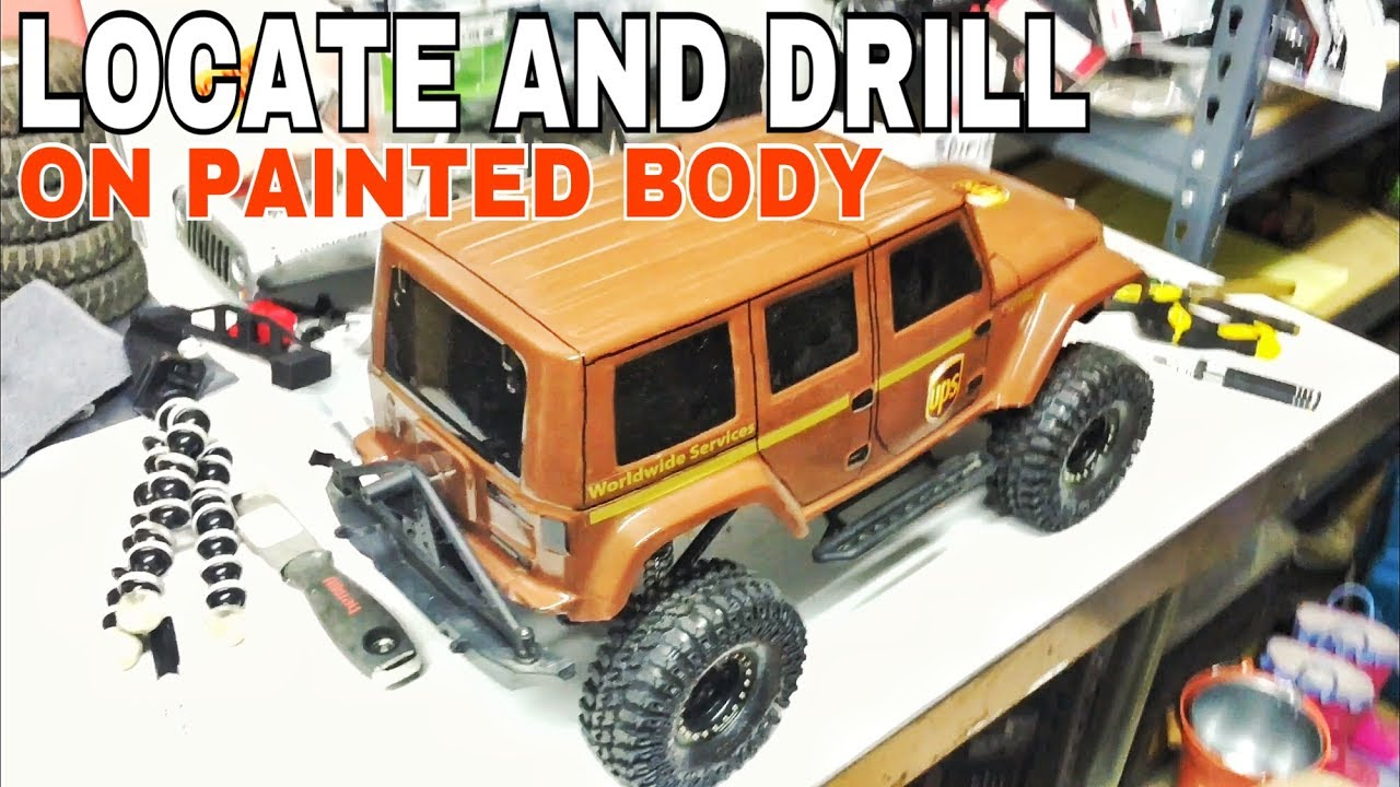 car drill. how to drill body post holes in a painted rc truck/car car p