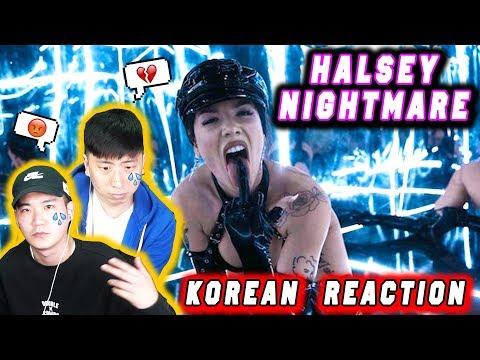 🔥(ENG)/ KOREAN Rappers / react to Halsey – Nightmare 💧💧