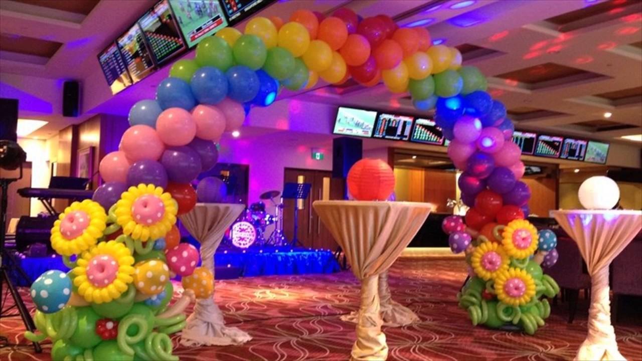 Kids Birthday Party Balloon Decorations YouTube