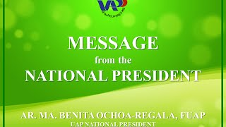 Message from UAP National President