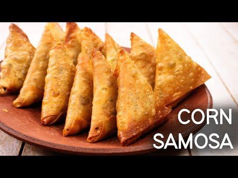Corn Samosa - Hyderabadi Irani Crispy Snack Recipe   CookingShooking