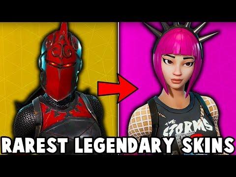5 RAREST LEGENDARY SKINS IN FORTNITE! (u don't have these skins)