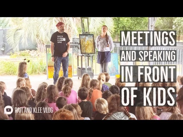 Meeting Customers And Speaking In Front Of Kids