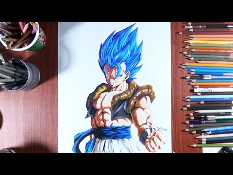 Drawing Gogeta Ssj Blue ( movie Broly ) Dragonball Z style
