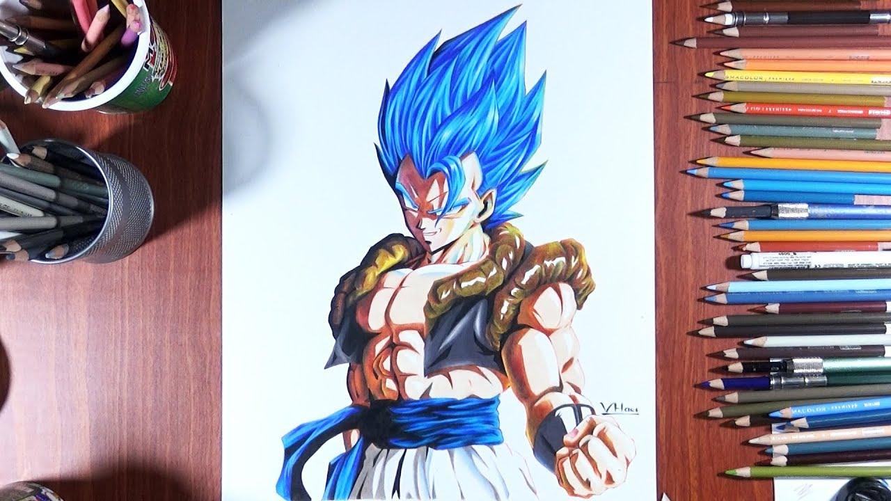 Drawing Gogeta Ssj Blue Movie Broly Dragonball Z Style