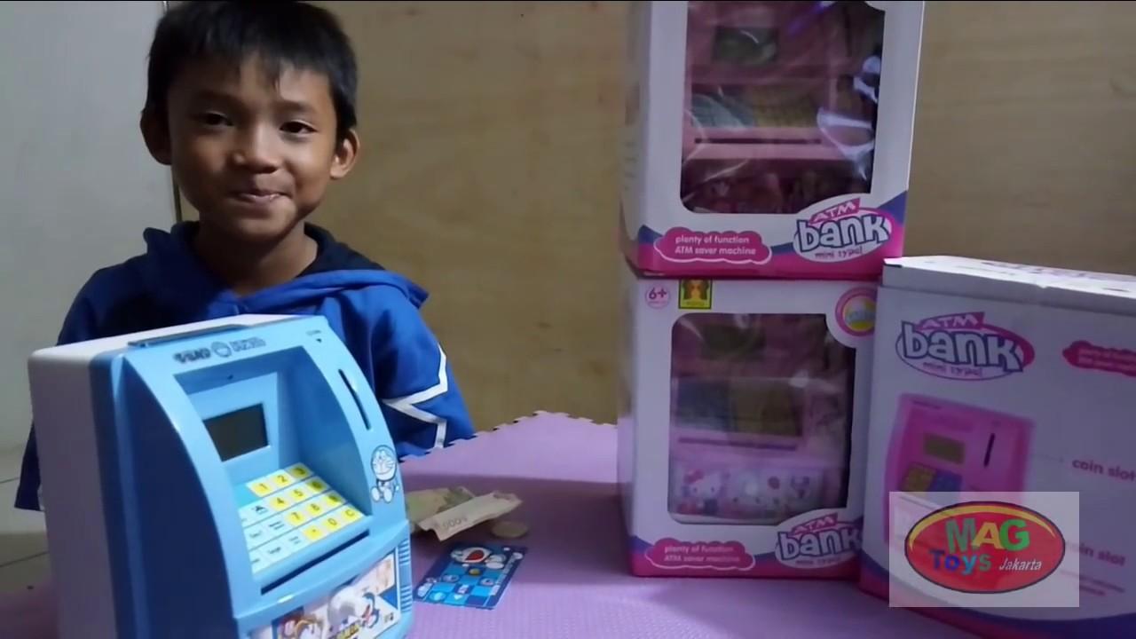 Cara Menggunakan Atm Mainan How To Use Toys Youtube Maainan Doraemoon Kyutt