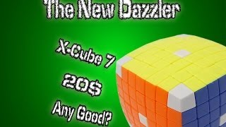 x cube 7x7 stickerless review v cube dazzler knock off