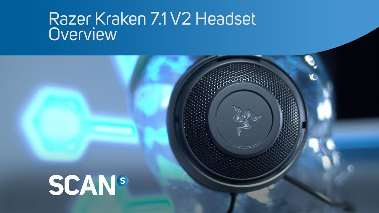 Razer Kraken 7.1 V2 surround sound gaming headset Headset - Overview ...