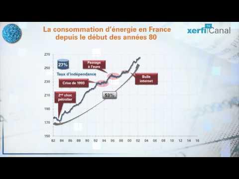 Le Graphique, Xerfi Canal 30 ans de consommation d'énergie en France
